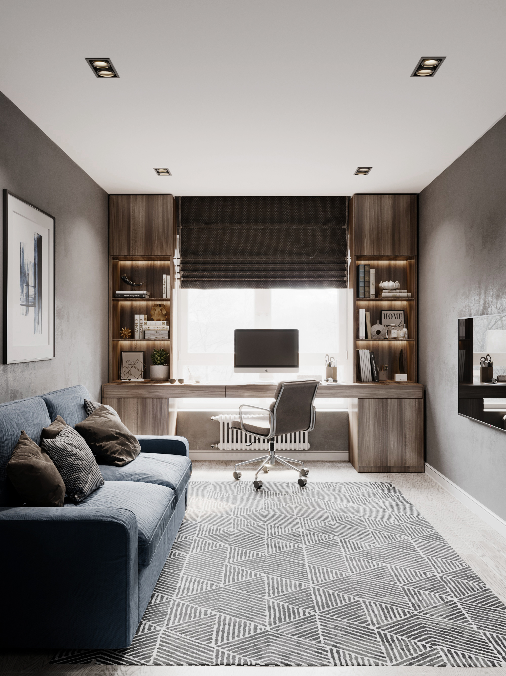 Дизайн комнаты в двухкомнатной квартире