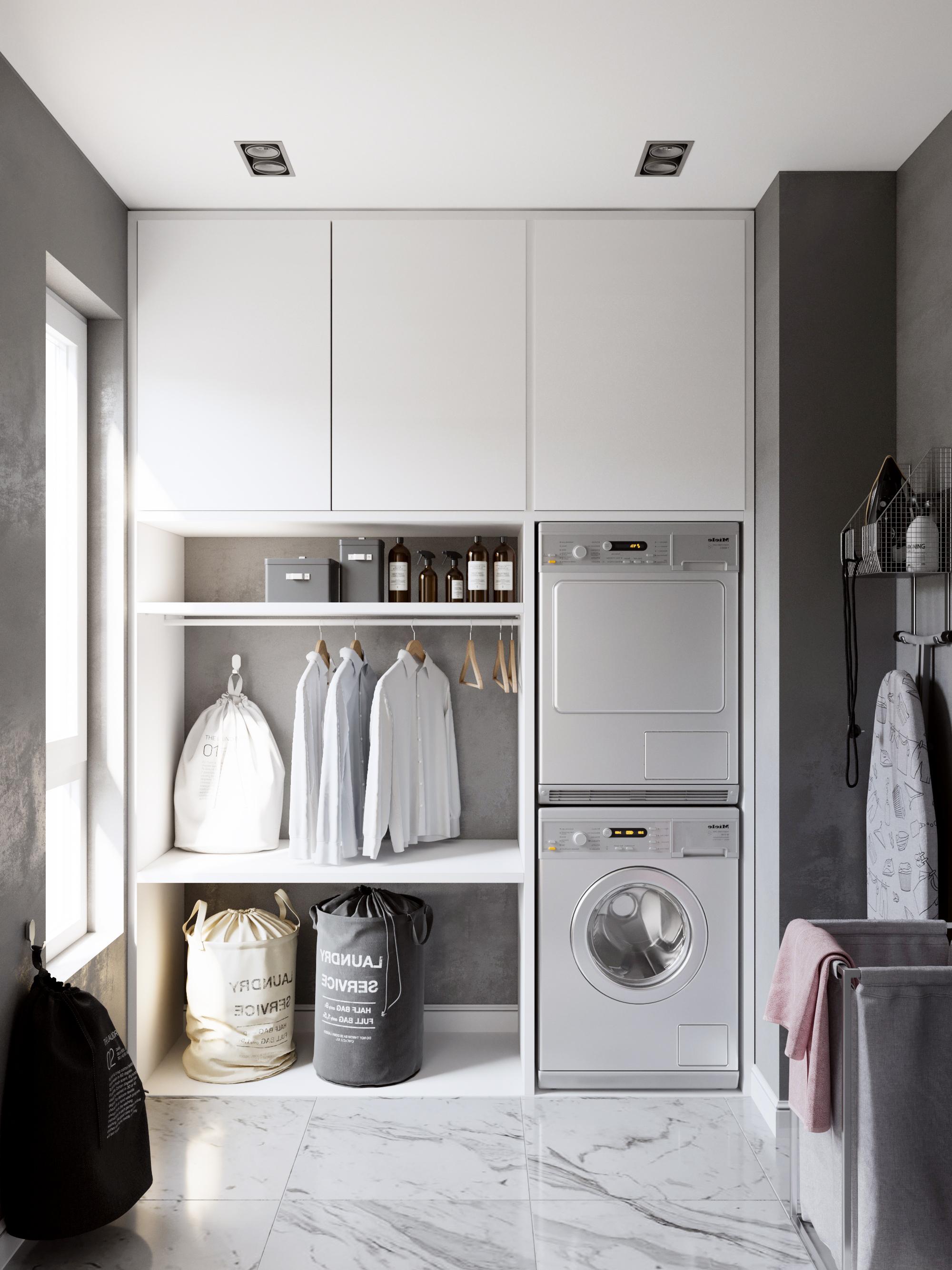 Дизайн прачечной в двухкомнатной квартире