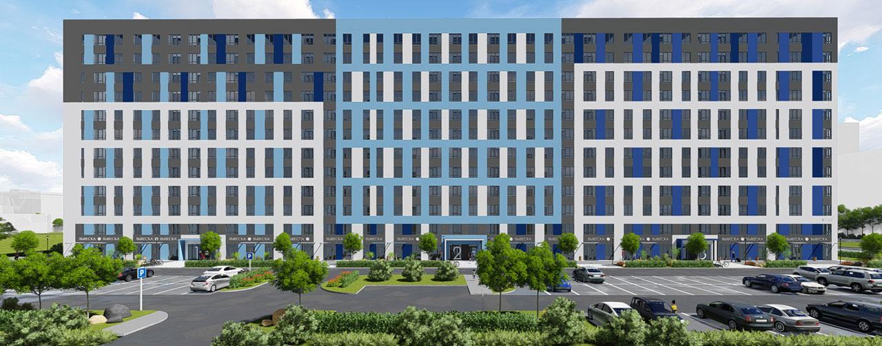 Жилой комплекс Высший пилотаж в Гатчине - территория смысла. Комфортная современная недвижимость по низкой цене бюджетного жилья. Вид 1